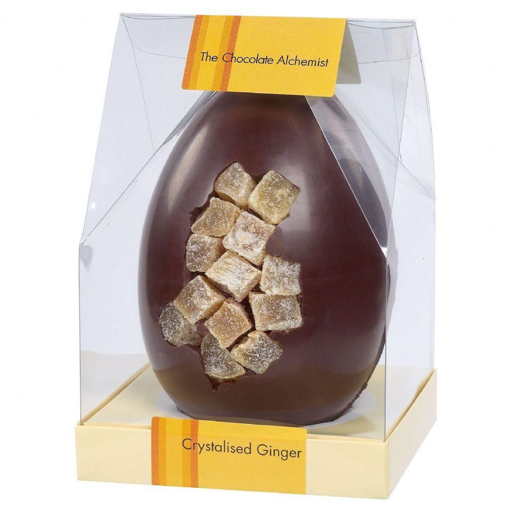 Crystalised Ginger Luxury Large Dark Chocolate Easter